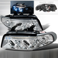 1996-1999 Audi A4 JY Projector Headlights - Chrome