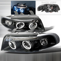 1996-1999 Audi A4 JY Projector Headlights - Black