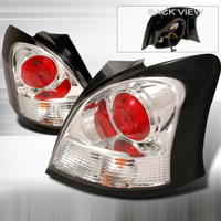 06-07 Toyota Yaris 3Dr JY Tail Lights - Chrome