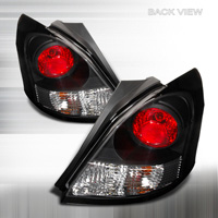 06-07 Toyota Yaris 3Dr JY Tail Lights - Black