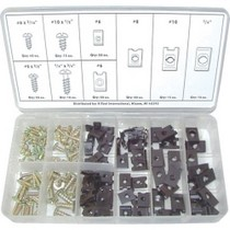 1999-9999 Saab 9-5 K Tool International 170 Piece U-Clip and Screw Assortment