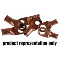 "1968-1984 Saab 99 K Tool International 3/8"" Stud 2 Gauge Copper Lugs - Quantity 2"