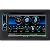 "1976-1980 Plymouth Volare Kenwood 6.1"" Double-DIN GPS Navigation/DVD Receiver With NAVTEQ Traffic, Bluetooth, & Pandora"