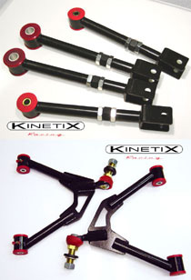 2003-2008 Nissan 350z Kinetix 350Z Adjustable front A-arms, rear camber traction package!