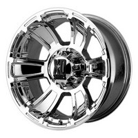 02-09 Avalanche Lifted (8 lug), 92-09 Suburban Lifted (8 lug), 00-09 H2, 88-09 Silverado Lifted (8 lug), 71-87 Pickup 2WD 3/4 Ton, 94-09 Ram 2500 4WD Lifted Kmc Xd Series Revolver Chrome