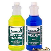 Not Applicable Lane's Super Blue Tire Gloss and Tire Cleaner Kit (16oz)