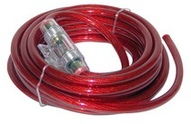 1987-1990 Mercury Capri Lanzar Contaq 4 Gauge 20' Power Cable & In-Line Fuse Kit