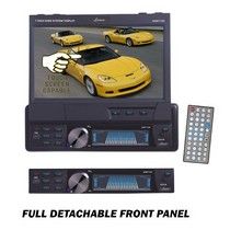 "1998-2000 Geo Prizm Lanzar 7"" Single Din In-Dash Motorized Touch Screen TFT/LCD Monitor With DVD/CD/MP3/MPEG4/USB/SD/AM/FM/RDS Receiver"