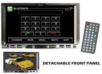 "2008-9999 Jeep Liberty Lanzar 7"" Double Din TFT Monitor Touch Screen DVD/MPEG4/MP3/DIVX/CD-R/USB/SD/AM/FM/RDS  w/Build-in Bluetooth"