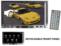 "2007-9999 Audi Q7 Lanzar 7"" Double Din TFT Monitor Touch Screen DVD/MPEG4/MP3/DIVX/CD-R/USB/SD/AM/FM/RDS Reciever"