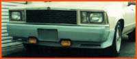 78-84 Malibu Wagon Lauren Engineering Custom Front Bumper - Tucked w/ License Plate Cut Out