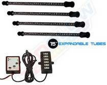 All Cars (Universal), All Jeeps (Universal), All Muscle Cars (Universal), All SUVs (Universal), All Trucks (Universal), All Vans (Universal) LEDGlow Expandable 7 Color LED Interior Kit - 4-Piece (15 Inch)
