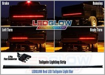 All Trucks (Universal) LEDGlow LED Tailgate Light Bar - 49 Inches (Red)