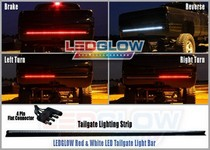 All Trucks (Universal) LEDGlow LED Tailgate Light Bar With Reverse Lights - 60 Inches (Red)