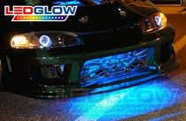 2004-2006 Chevrolet Colorado LEDGlow USB 3 Million LED Grille Light - Red Section (24 Inch)