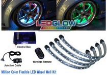 2007-9999 Audi RS4 LEDGlow Million Color Flexible LED Wheel Well Kit