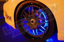 1986-1992 Mazda RX7 LEDGlow Flexible LED Wheel Well Kit (Blue)