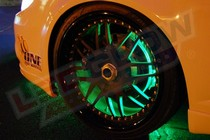 2001-2003 Honda Civic LEDGlow Flexible LED Wheel Well Kit (Green)