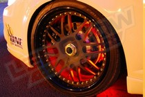 2001-2003 Honda Civic LEDGlow Flexible LED Wheel Well Kit (Red)