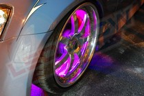 2001-2003 Honda Civic LEDGlow Flexible LED Wheel Well Kit (Pink)