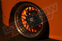 2001-2003 Honda Civic LEDGlow Flexible LED Wheel Well Kit (Orange)