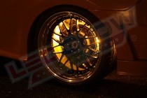 1986-1992 Mazda RX7 LEDGlow Flexible LED Wheel Well Kit (Yellow)