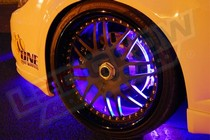 1986-1992 Mazda RX7 LEDGlow Flexible LED Wheel Well Kit (Purple)