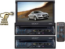 "2007-9999 Audi Q7 Legacy 7"" Motorized Touch Screen TFT/LCD Monitor With DVD/CD/MP3/AM/FM Player"