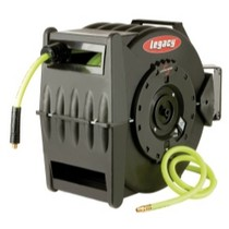 "1978-1990 Plymouth Horizon Legacy Manufacturing Levelwind Retractable Hose Reel for Air With 3/8"" I.D. x 75' Flexzilla Hose"