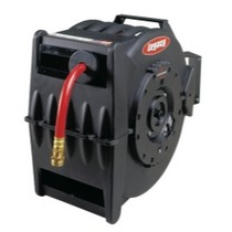 "1978-1990 Plymouth Horizon Legacy Manufacturing Levelwind Retractable Hose Reel for Air or Water With 1/2"" ID x 50' Hose"
