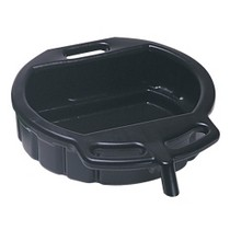 2002-2003 Honda_Powersports Valkyrie Lisle Plastic 4-1/2 Gallon Black Spill Proof Drain Pan