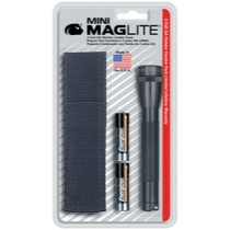 1998-2000 Mercury Mystique Mag instrument Mini-MagLite® Black Flashlight Kit With Holster and 2 AA Batteries