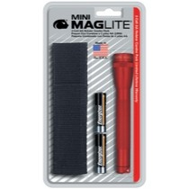 1998-2000 Mercury Mystique Mag instrument Mini-MagLite® Red Flashlight Kit With Holster and 2 AA Batteries