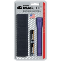 2000-2006 Kawasaki Ninja_ZX-12R Mag instrument Mini-MagLite® Purple Flashlight Kit With Holster and 2 AA Batteries