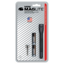 1974-1976 Mercury Cougar Mag Instrument Ultra Mini MagLite® Black Flashlight With Belt Clip and 2 AAA Batteries