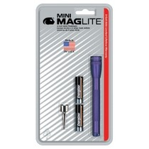1998-2000 Mercury Mystique Mag Instrument Ultra Mini MagLite® Purple Flashlight With Belt Clip and 2 AAA Batteries