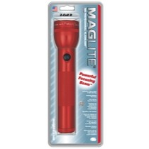 "1974-1976 Mercury Cougar Mag instrument MagLite® 2 ""D"" Cell Flashlight, Red"