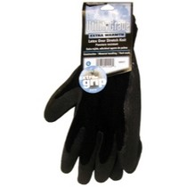 2003-2004 Infiniti M45 MAGID Black Winter Knit, Latex Coated Palm Gloves - Extra Large