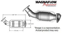 2008 Lexus LS600h; 5, 8V, 2009 Lexus LS600h; 5, 8V, 2010 Lexus LS600h; 5, 8V Magnaflow Direct Fit Catalytic Converter - Driver Side