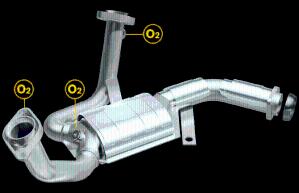 catalytic converter 2001 ford taurus