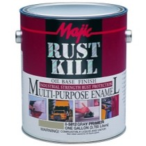 1960-1964 Ford Galaxie Majic Rust Kill Multi Purpose Enamel, Gallon Gray Primer