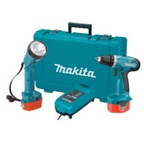 "2002-9999 Mazda Truck MaKita 14.4 Volt 3/8"" Drive Cordless Drill and Flashlight Kit"