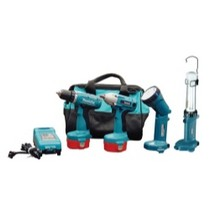 Universal (All Vehicles) MaKita 14.4 Volt Auto Combination Driver Drill, Impact Wrench and Light Kit