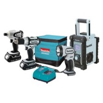Universal (All Vehicles) MaKita 4 Piece 18 Volt Compact Lithium-Ion Combo Kit