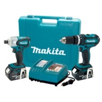 Universal (All Vehicles) MaKita 2 Piece 18 Volt LXT Lithium-Ion Hammer Driver-Drill and Impact Driver Combo Kit