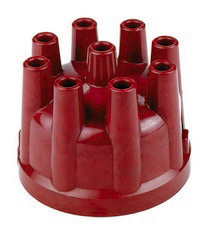 1973-1979 Ford F350 Mallory Red Distributor Cap (For Single Points Only)