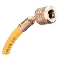 "1967-1970 Pontiac Executive Mastercool 72"" R-12 Yellow Hose With Auto Shut-Off Valve Fittings"