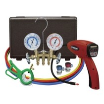 1991-1996 Saturn Sc Mastercool Electronic Leak Detector With Brass Gauge Set