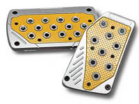 1973-1991 Chevrolet Suburban Matrix Universal Pedals - Import (Silver/Yellow)