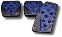 2003-9999 Honda Pilot Matrix Universal Pedals - Import (Black/Blue)